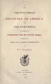 Cover of: The pre-Columbian discovery of America by the Northmen |