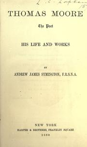 Cover of: Thomas Moore