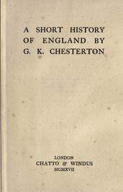 Cover of: A Short History of England