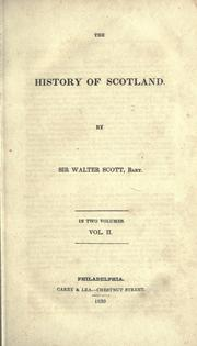 Cover of: The history of Scotland