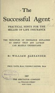 Cover of: The successful agent