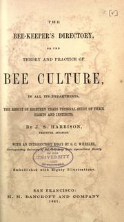 Cover of: The bee-keeper's directory; or, The theory and practice of bee culture