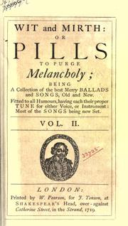 Cover of: Songs compleat, pleasant and divertive, set to musick | Thomas D'Urfey