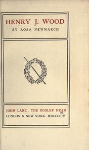 Cover of: Henry J. Wood