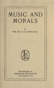 Cover of: Music and morals