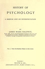 Cover of: History of psychology: a sketch and an interpretation.