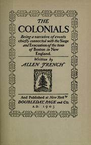 The colonials by Allen French