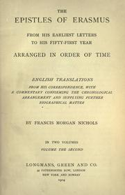 Cover of: The Epistles of Erasmus