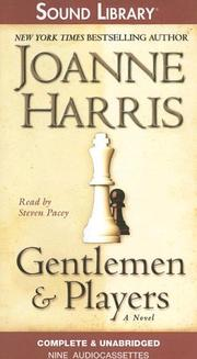Cover of: Gentlemen and players: a novel