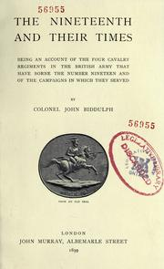 Cover of: The Nineteenth and their times | Biddulph, John