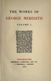 Cover of: The works of George Meredith