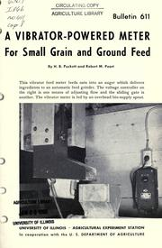 Cover of: A vibrator-powered meter for small grain and ground feed