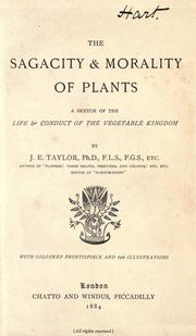 Cover of: The sagacity & morality of plants |