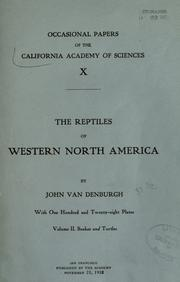 Cover of: The reptiles of western North America