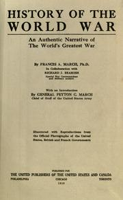 History of the world war by Francis A. March