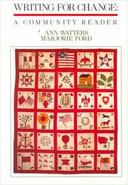 Cover of: Writing for Change | Ann Watters