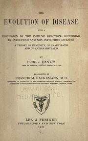 Cover of: The evolution of disease