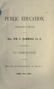 Cover of: Public education