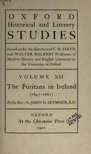 Cover of: The Puritans in Ireland