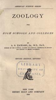 Cover of: Zoology for high schools and colleges