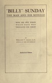 "Cover of: ""Billy"" Sunday 