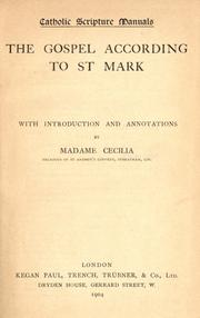 Cover of: Catholic scripture manuals by