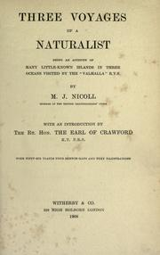 Cover of: Three voyages of a naturalist