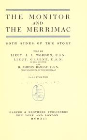 Cover of: The Monitor and the Merrimac