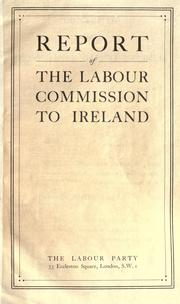 Cover of: Report of the Labour commission to Ireland
