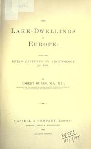 Cover of: The Lake-dwellings of Europe