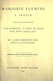 Cover of: Marjorie Fleming, a sketch