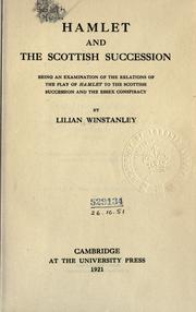 Cover of: Hamlet and the Scottish succession by Winstanley, Lilian