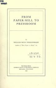 Cover of: From paper-mill to pressroom