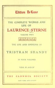Cover of: The complete works and life of Laurence Sterne