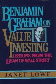 Cover of: Benjamin Graham on value investing