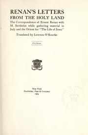 Cover of: Renan's letters from the Holy Land