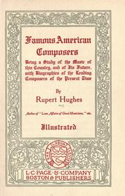 Cover of: Contemporary American composers.