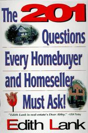 Cover of: The 201 questions every homebuyer and homeseller must ask!