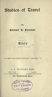 Cover of: Studies of travel; Italy