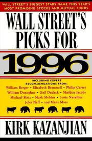 Cover of: Wall Street's Picks for 1996 (Serial)