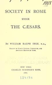 Cover of: Society in Rome under the Caesars
