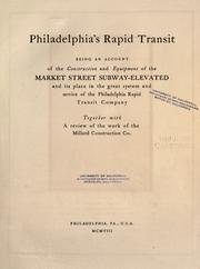 Cover of: Philadelphia's rapid transit | Arnold & Dyer, Philadelphia.