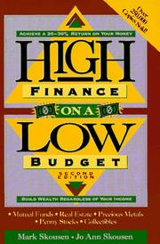Cover of: High finance on a low budget | Mark Skousen