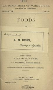 Cover of: Baking powders