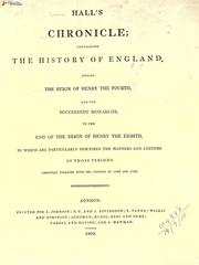 Cover of: Hall's chronicle by Edward Hall