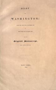 Cover of: Diary of Washington