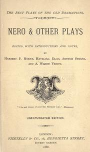 Cover of: Nero & other plays |