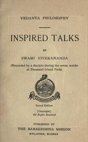 Cover of: Inspired talks