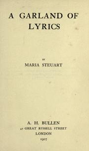 Cover of: A garland of lyrics