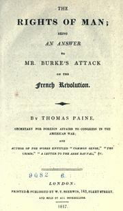 Cover of: The rights of man ... by Thomas Paine